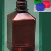 Бутылка квадратная 270 мл коричневая