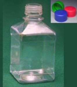 Бутылка квадратная 270 мл прозрачная
