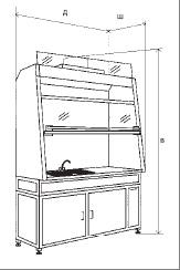 Шкафы вытяжные с мойками SHV s M